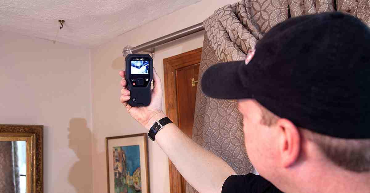 Recherche de fuites d'eau avec une caméra thermique